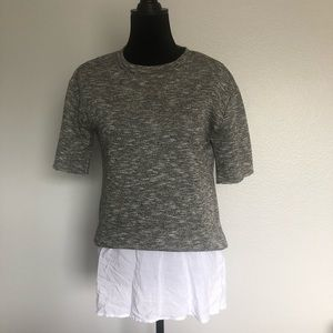NWT BCBGeneration Gray Top Sz S